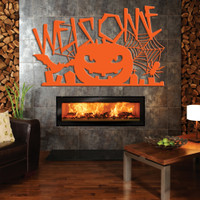Halloween Welcome Sign with Pumpkin (G40)