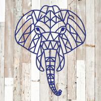 Geometric Elephant Metal Wall Art (G42)