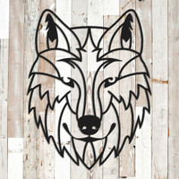 Geometric Wolf Wall Art (G43)