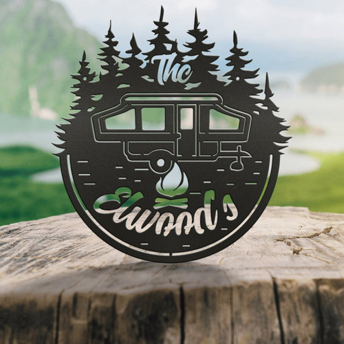 Personalized Camping Sign, 5th Wheel, Motor home, Bumper pull, Airstream & Pop-up (Z50)