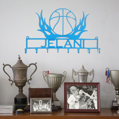 Basketball Lover's Flaming Medal Display Rack (I11)