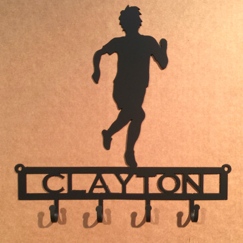 Male Runner Key Holder with Custom Text Field (H19)