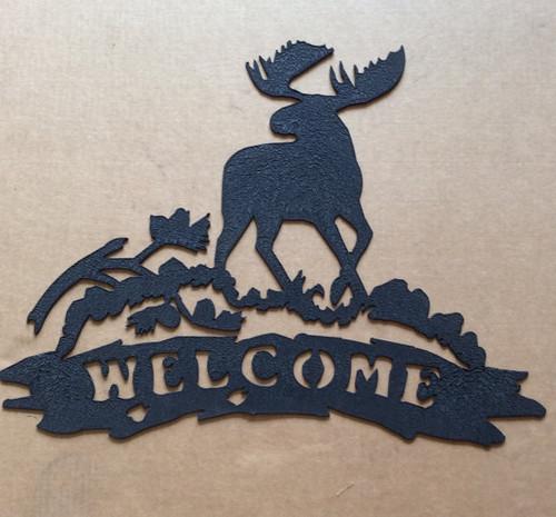 Moose Welcome Metal Wall Art (S)