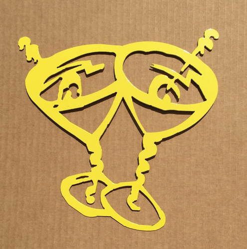 Martini Glasses Metal Wall Art (V)