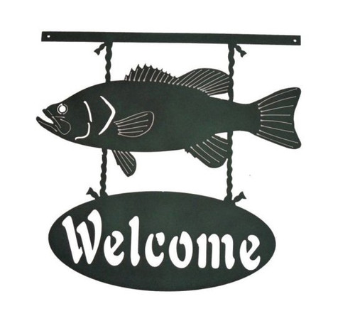 Welcome Fish Metal Wall Art (U)