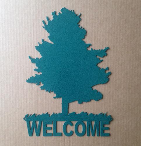 Metal Art Custom Metal Tree Sign 4 (J9)