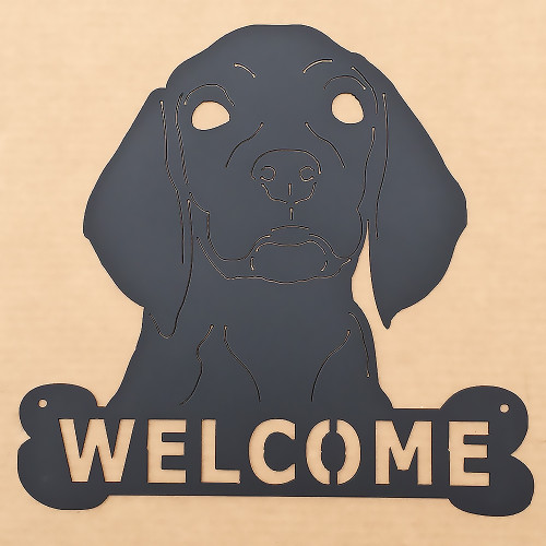 Welcome Dog Metal Wall Art (C0)
