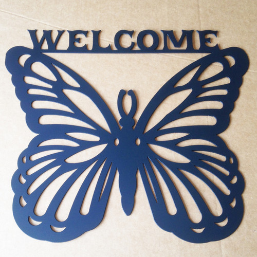 Metal Welcome Sign Butterfly (A5)