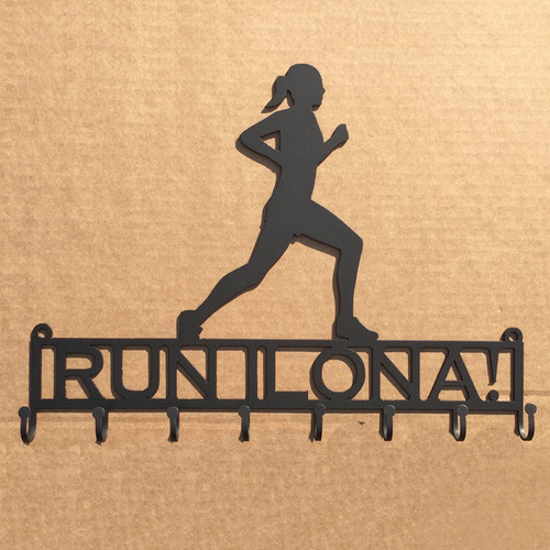 Female Runner Metal Rack Custom Text