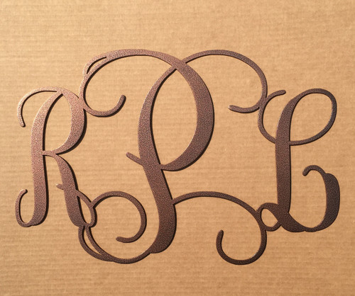 Vine Monogram with Three Initials