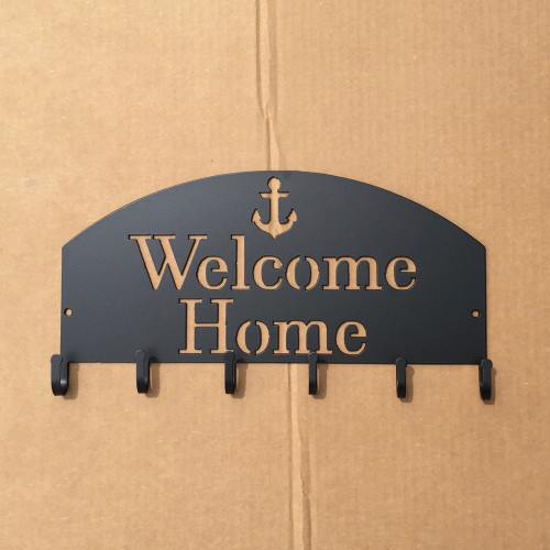 Welcome Home Key Holder with Anchor