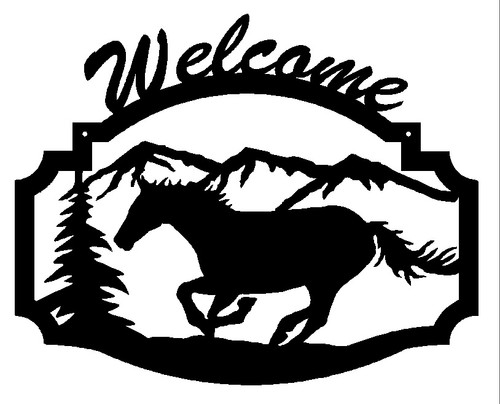 Horse Welcome Sign (B35)