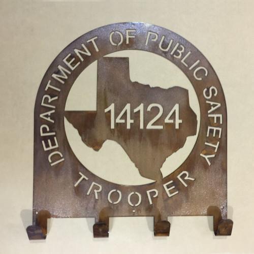 Texas State Trooper Coat & Hat Rack (Q21)