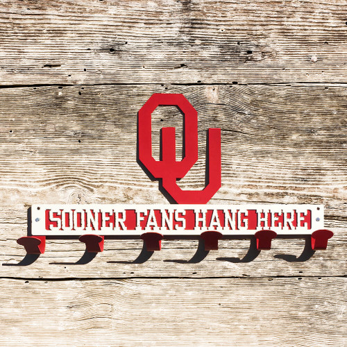 Sooner Fans Hang Here Coat/Hat Rack (B42)