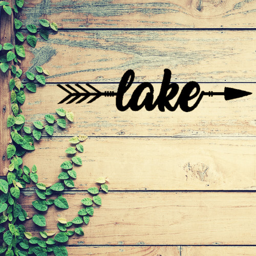 This Way to the Lake! Metal Wall Art (B57)