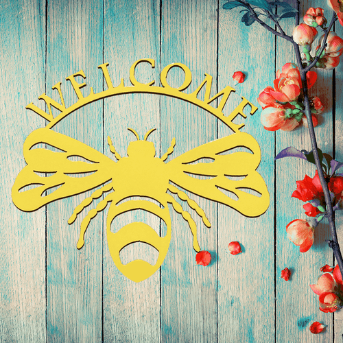 Bumble Bee Welcome Sign & Wall Art (N)