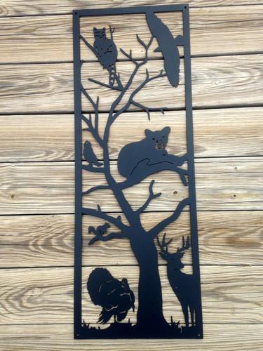 Tree Full Of Animals Metal Wall Art (R6)
