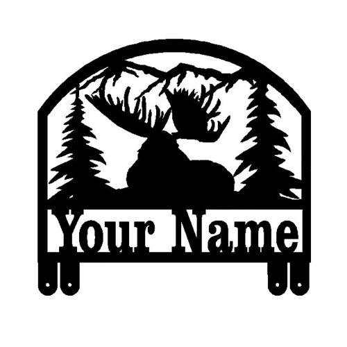 Big Bull Moose Resting Mailbox Topper (D32)