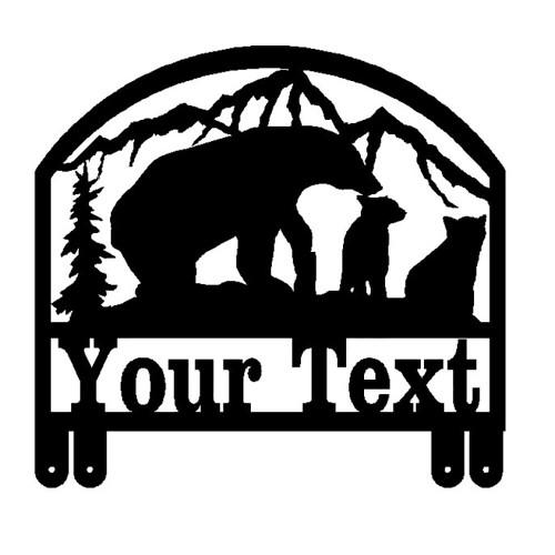 Bear with Cubs Mailbox Topper (D40)
