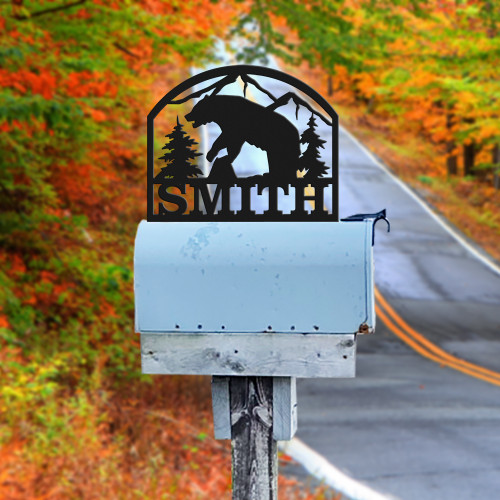 Bear Mailbox Topper (E31)