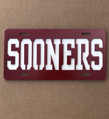 OU Sooner License Plate (E37)