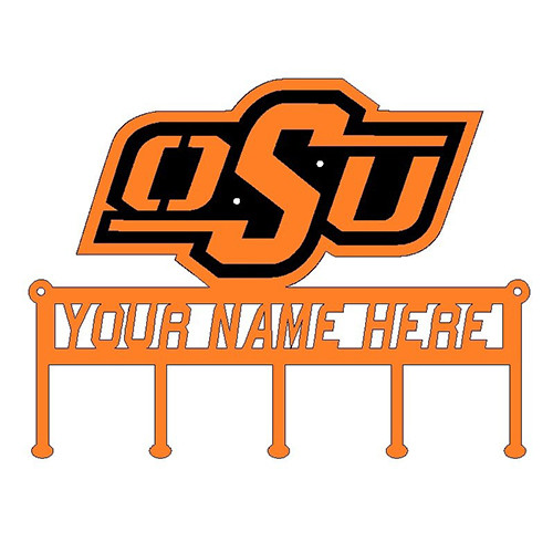 OSU Key Holder with Personalized Name Field Oklahoma State (C45)