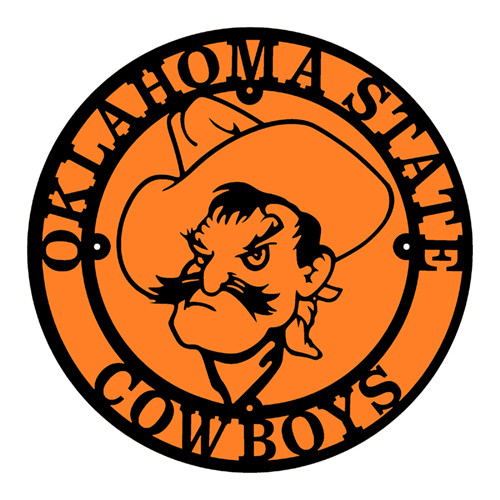Oklahoma State Cowboys Pistol Pete in a Circle (C47)