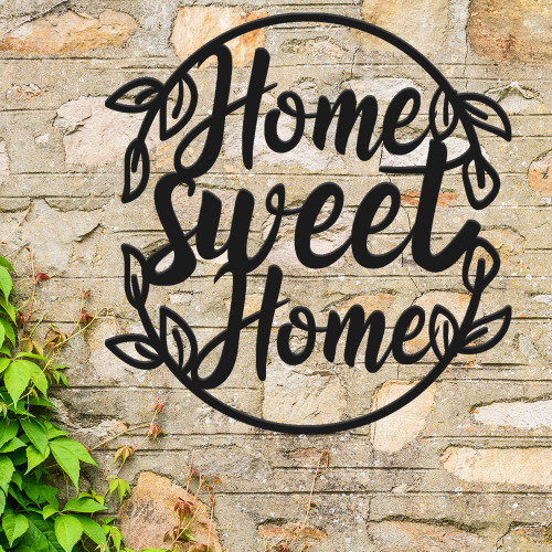 Beautiful Oval Home Sweet Home Sign (F36)