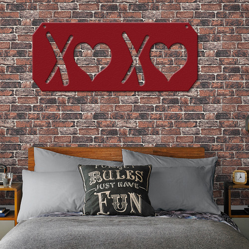 XOXO Metal Wall Art Sign (G37)