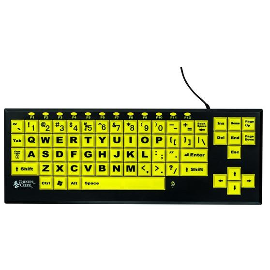 Toetsenbord VisionBoard2 zwart op geel