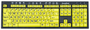 Zoomtext toetsenbord zwart op geel