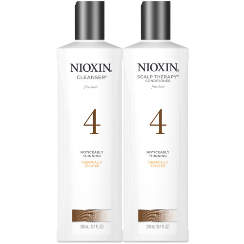 nioxin system 4 cleanser and scalp therapy 10 oz duo for noticeably thinning chemically treated fine hair