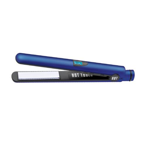 "hot tools radiant blue 1"" digital flat iron with titanium plates"