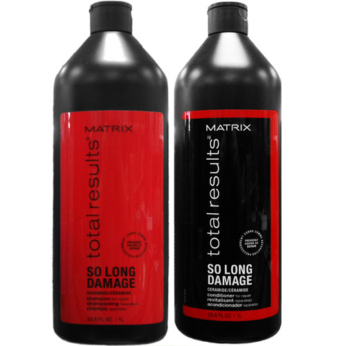 total results so long damage shampoo and conditioner liter duo