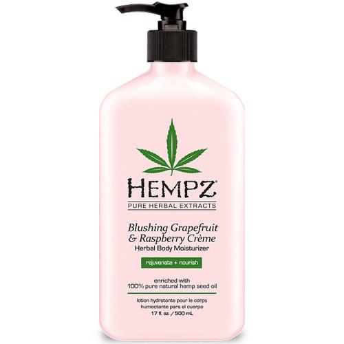 hempz blushing grapefruit & raspberry crème herbal body moisturizer 17 oz