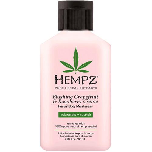 hempz blushing grapefruit & raspberry crème herbal body moisturizer 2 oz