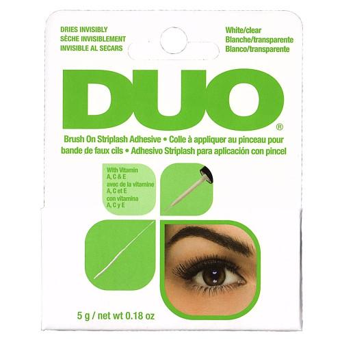 duo brush on striplash adhesive white clear
