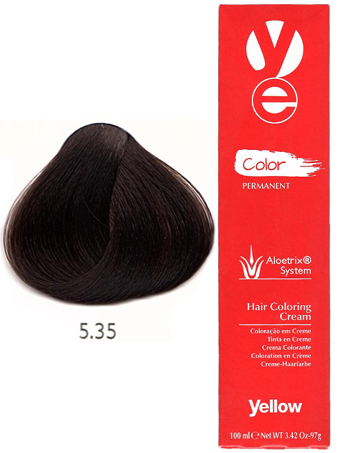 Alfaparf Yellow Hair Color Light Golden Mahogany Brown