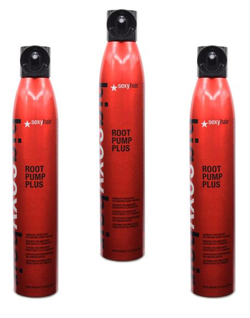 Big Sexy Hair Root Pump Plus Humidity Resistant Volumizing Spray Mousse 10oz - 3 Pack