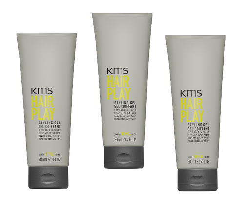 KMS HAIRPLAY Styling Gel 6.7oz - 3 Pack