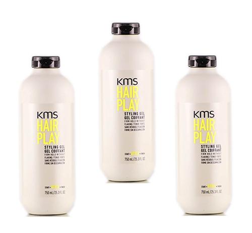 KMS HAIRPLAY Styling Gel 25.36oz - 3 Pack