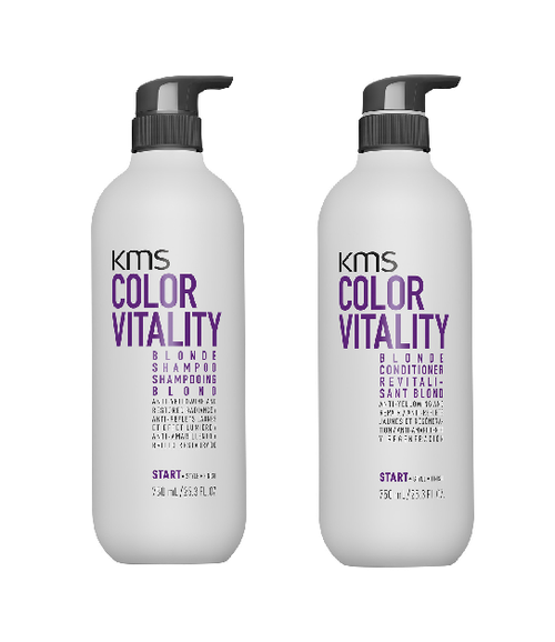 KMS COLORVITALITY Blonde Shampoo and Conditioner Duo 25.3oz