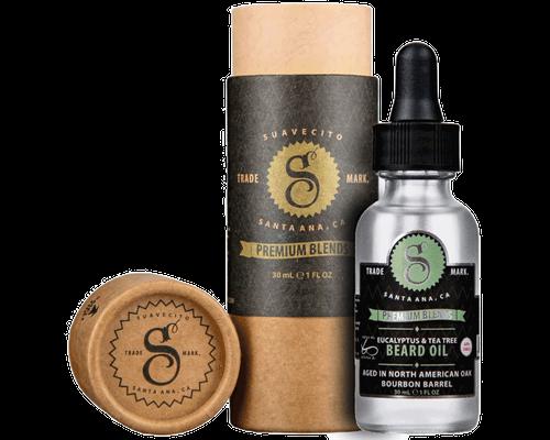 Suavecito Premium Blends Beard Oil Eucalyptus and Tea Tree 1oz