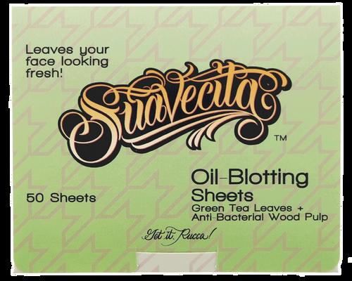 Suavecita Oil-Blotting Sheets Green Tea Leaf Oil 50 Sheets