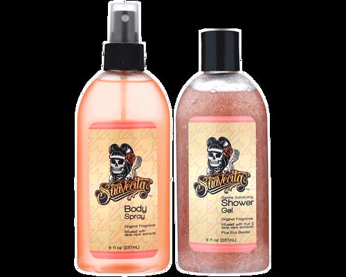 Suavecita Body Spray and Gentle Exfoliating Shower Gel Duo 8oz