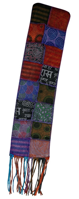 """H8-10  -  Groovy Stitch Scarves - Assorted Colors 7"""" x 56"""""""