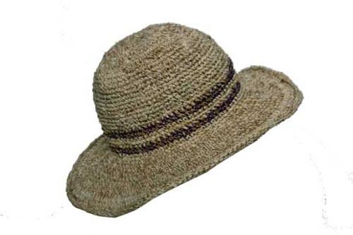 PHCS-S  -  Sun Hat with Secret Stash Pocket Asst Stripe
