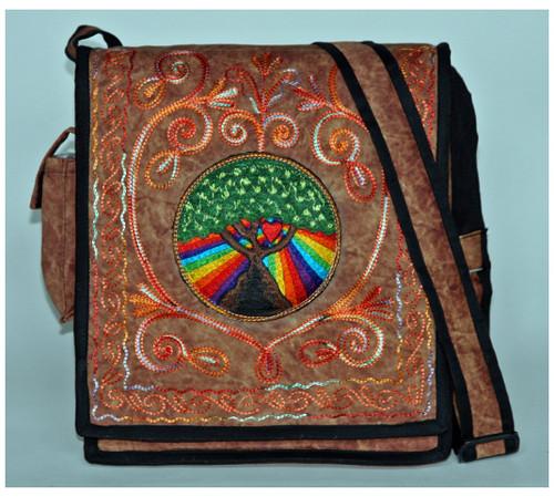 """S6-1  -  Eden Hand Bag Assorted Colors 11.5"""" X 12"""" X 2.5"""""""