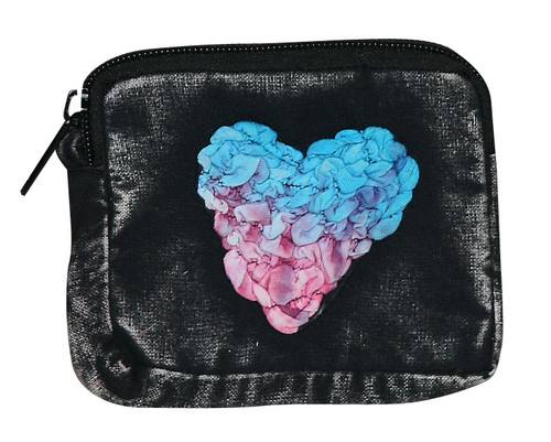 """X4-1  -  Sweetheart Coin Purse Assorted Colors 6"""" x 5"""""""