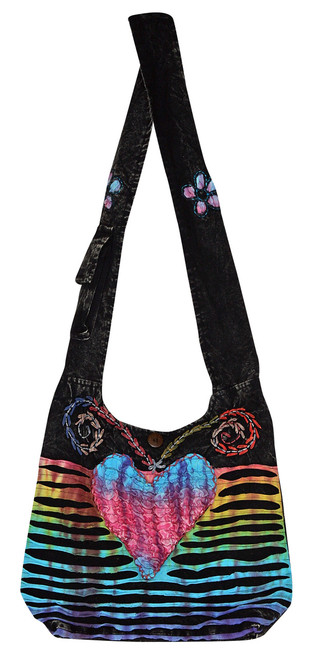 """X4-4  -  Large Sweetheart Hand Bag Assorted Colors 15"""" x 13"""""""